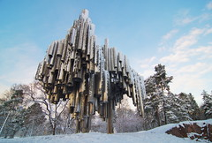 Sibelius monument (Rob Hurson) Tags: trees snow cold ice monument suomi finland helsinki pentax pipes clear k30 pentaxk30 samsung1224mmf4