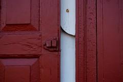 Barnett Newman (pilechko) Tags: wood red color window paint nj shutters washingtoncrossing