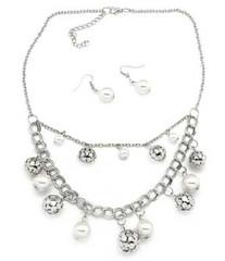 5th Avenue White Necklace P2610A-4 (2)