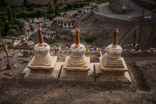 Stupas at Lamayuru in Ladakh, India