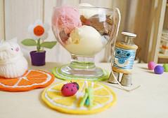 Sorvete!!! Hummmm... (Ateliê Bonifrati) Tags: cute diy craft felt feltro coaster tutorial pap molde bonifrati portacopos