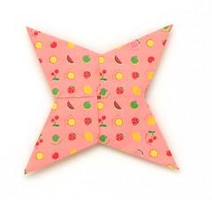 Fujimoto square Rosette  30 front (Pliages et vagabondages) Tags: square origami rosette décoration déco fujimoto
