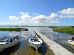Harray loch (stuartcroy) Tags: sea sky white colour reflection water weather clouds island scotland still orkney scenery waves sony harray harrayloch