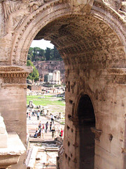 Rome 574 (Xeraphin) Tags: italy rome archaeology ancient arch roman forum latin travertine archeology geta triumphal caracalla severus coffered parthian septimius victories
