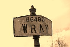 Wray village sign (Johns Journeys) Tags: outdoor roadsign signpost wray