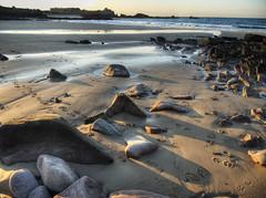 rocks on Corbletts Beach, Alderney (neilalderney123) Tags: sunset landscape rocks alderney beachwater corbletts 2016neilhoward