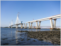 QF south view (The Anti-Sharpness League) Tags: jadmor olympus queensferry crossing forth road bridge fife scotland