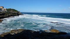 Beach (yipiplop) Tags: ocean blue sea sky bondi landscape rocks sydney nsw bronte coogee