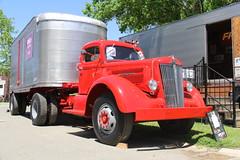 IMG_2780 (RyanP77) Tags: show california b white truck log model shiny trucker international chevy chrome r pete logger gmc peerless kw peterbilt ih kenworth cabover bullnose fruehauf