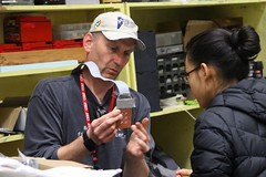 "Paul teaches Vy about soldering • <a style=""font-size:0.8em;"" href=""http://www.flickr.com/photos/27717602@N03/26868479844/"" target=""_blank"">View on Flickr</a>"