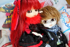 .: Loki & Conrad :. (.: Miho :.) Tags: red black cute make up outfit couple dal planning butler mao tina groove pullip johan jun sutcliffe modifications isul obitsu grell 25cm kuroshitsuji autoremovedfrom1to5faves