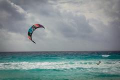 Sailorman (evxe) Tags: ocean birthday sea vacation kite beach water canon mexico fly teal board may royal resort sail sands 2016 60d