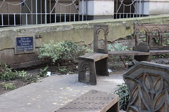 A little hidden park with carved wooden benches. (maggie jones.) Tags: london greatfireoflondon greatfire