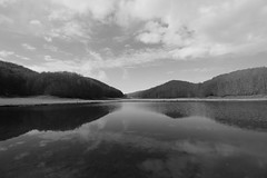 Right where you are... (modestino68) Tags: bw lake mountains montagne lago bn riflessi lilium reflects