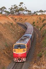 Slanting Streamliner (Henrys Railway Gallery) Tags: clyde diesel pass melbourne passenger aclass bacchusmarsh passengertrain emd a66 vline 8153 westernvictoria parwancurves vlinepassenger exbclass