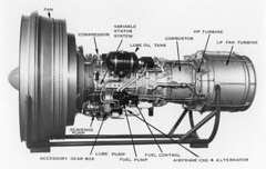 Robert Reedy Collection Image (San Diego Air & Space Museum Archives) Tags: jetengine turbofanengine turbofan generalelectric highbypassturbofanengine highbypassturbofan generalelectrictf39 tf39 getf39 ge