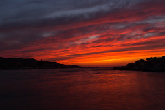 Red in Red (y.elbehi) Tags: blue sunset red sea sky orange cloud beach home nature water beauty bea tunisia tun