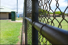 Fence Perspective (Forever Rambling) Tags: field bench focus baseball oahu perspective