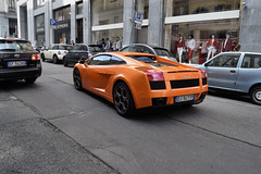 Gallardo (dandude979) Tags: orange lambo lamborghini torino turin yellow cars car city hypercars hypercar supercar supercars italy italian