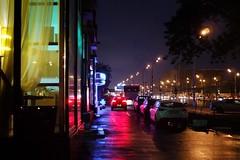 waiting for Gosling (Kirill Litvin) Tags: street rain night streetlight neon fuji moscow vehicle fujifilm x100 moscow