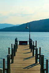 Steel Pier - Lake George (avflinsch) Tags: light shadow vacation lake ny water pier george 500px ifttt