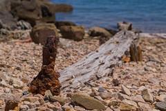 Wood and iron (javigiles87) Tags: islacanela puntadelmoral iron wood hierro madera postedemadera cala andaluca ayamonte