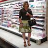 Kirsten at Target (krislagreen) Tags: sandals cd mani skirt tgirl transgender purse crossdress tg feminization pedi feminized transvetite knittop
