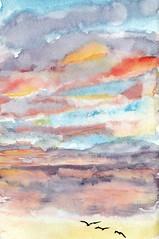 ciel paris (Jluc22fr) Tags: paris aquarelle watercolor watercolour toits sunset