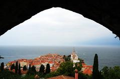 Panoramic Piran from City Walls / Slovenia (anji) Tags: slovenia slovenija exyu exyugoslavia balkans istria istra adriaticsea adriatic jadran piran pirano
