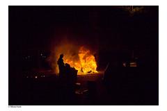 Car's on fire (Tiffanie Poiret) Tags: people car fire war 14 july stupid