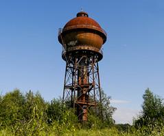 Wasserturm (FotoTrenz NRW) Tags: old blue sky tower tank outdoor watertower railway bahnhof nrw turm duisburg rost bahn wasserturm nostalgie bissingheim