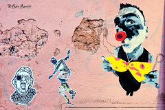 Roma. Trastevere. Street art by Tzing Tao, K2m, Mimi the clown (R come Rit@) Tags: italia italy roma rome ritarestifo photography streetphotography streetart arte art arteurbana streetartphotography urbanart urban wall walls wallart graffiti graff graffitiart muro muri streetartroma streetartrome romestreetart romastreetart graffitiroma graffitirome romegraffiti romeurbanart urbanartroma streetartitaly italystreetart contemporaryart artecontemporanea poster posterart colla glue paste pasteup k2m kappa2emme tzingtao mimitheclown trastevere
