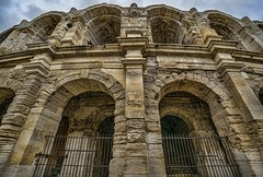 The arched doorways of the Roman amphitheater in Arles, France (mharrsch) Tags: amphitheater arena arch architecture roman ancient arles arelate france mharrsch