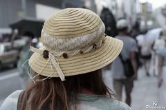 Woman wearing a hat in the street of Tokyo Japan (ZKent.Yousif) Tags: chku tkyto japan jp hat woman tokyo canon canonsigma sigma sigma1750mm 50mm street walking streetphotography