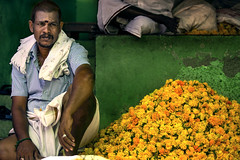 India (Enricodot ) Tags: enricodot ilobsterit color colors india green yellow flower flowers market canon street streetphotographer streetlife