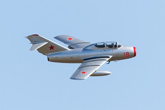 MiG 15 UTI (Paul Braham Photography) Tags: aircraft aeroplane warbird airplane fighter fighters historic vintage veteran iwm imperialwarmuseum duxford airdisplay airshow