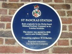 2015-Jul-14 - London - St Pancras - Blue Plaque - P1280061 (GeordieMac Pics) Tags: 2015georgemcvitieallrightsreserved railway station blueplaque london stpancras pasnasonic lumix dmc fz8