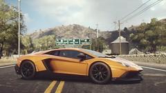 Aventador 50 Anniversario (polyneutron) Tags: car photography lamborghini aventador lp7204 orange supercar racer needforspeed nfs rivals pc videogame photomode depthoffield bokeh