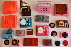 Vintage Record Players (raining rita) Tags: recordplayers miniature barbie vintage