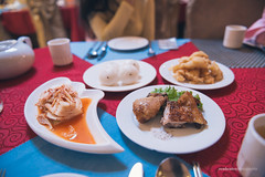 North Korean Dinner (reubenteo) Tags: northkorea dprk food lunch dinner steamboat kimjongun kimjongil kimilsung korea asia delicacies