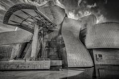 The Guggenheim (Josep Oliv) Tags: guggenheim blancoynegro estructura arquitectura bilbao