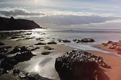 Outer Hope Beach (Geraint_T) Tags: beach bigstopper britain coast contrejour devon england gb greatbritain hopecove leefilters longexposure oldpriest outerhope rocks sea silhouette hopecover uk plage angleterre