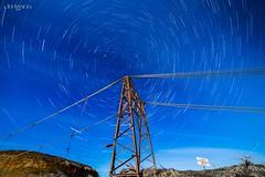 Vortice Estelar ... (Marcelo Las Heras) Tags: circumpolar nocturna night nightphotography cielo estrellas stars full moon luna nightscapes estelar trazo