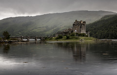 Eilean Donan (Anton Andreev) Tags: scotland highland castle eilean donan architecture misty cloudy atmosphere water bridge reflection