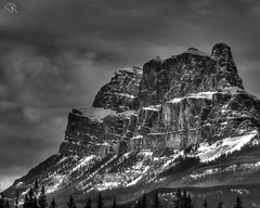Castle Mountain (Nelson Rioux photography) Tags: banff mybanff banffnationalpark bw blackandwhite mountains castlemountain alberta canada rockies rockymountains
