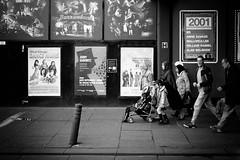 Enter Right (stephen cosh) Tags: 50mmsummicronapo analogue blackandwhite candid film fujineopan100 glasgow kodakhc110 leicam7 people scotland stephencosh streetphotography