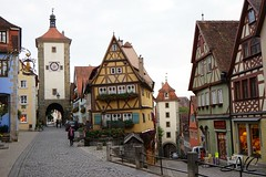 Town Gate in Rothenburg (Nancleve) Tags: germany rothenburg vacation walls walledcity halftimbered houses buildings gates