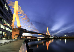 8343 Aomori Bay Bridge (Rmonty119) Tags: travel bridge cold water yellow japan night bay aomori canon5dlll