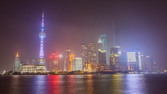 The lights of Shanghai (A.Gabriel) Tags: china travel panorama colors night lights asia skyscrapers shanghai metropolis huangpuriver