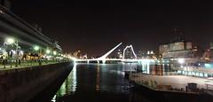 DSC05587 Puerto Madero, Buenos Aires  (Composicin) (marialuz_fernandez) Tags: bridge urban argentina rio night port docks river puente noche buenosaires cityscape riverside sony puertomadero dscw125